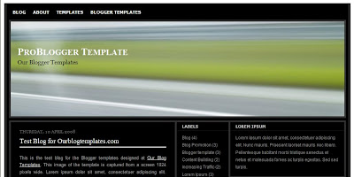 Free Blogger Template - Problogger - 4 column, ads ready, black