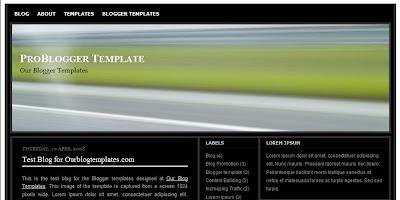 Free Blogger Template - Problogger - 4 column, ads ready, black