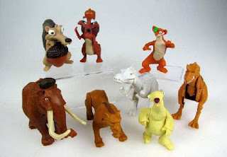 McDonalds Ice Age 3 Dawn of the Dinosaurs Set of 8 toys