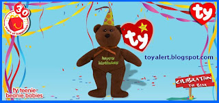 McDonalds Ty Beanie Babies 2009 toys - Celebration the Bear