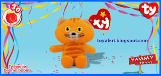 McDonalds Ty Beanie Babies 2009 toys - Yammy the Cat