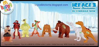 McDonalds Ice Age 3 Dawn of the Dinosaurs New Zealand Toy Release 2009