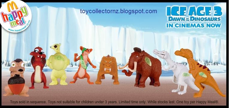 mcdonalds releases ice age 3 toys toy collector new zealand