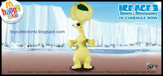 McDonalds Ice Age 3 Dawn of the Dinosaurs New Zealand Toy Release 2009 - Sid - Tosses bundle in the air and catches it