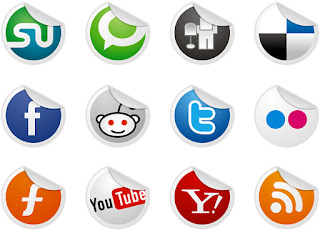 Free Social Bookmark Icons for bloggers - Socialize Icon Set - 12 icon set