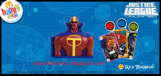 McDonalds Justice League Unlimited Toys 2009 - Red Tornado