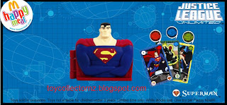 McDonalds Justice League Unlimited Toys 2009 - Superman
