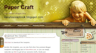 Paper Craft - Free Blogger Template - Free Blogspot template