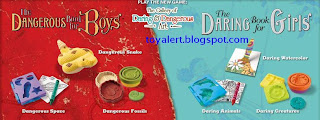 Burger King Dangerous Book for Boys and Daring Book for Girls - Kids Meal Toys Promotion 2009