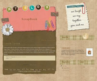 Free Blogger Template - My Scrap Blog
