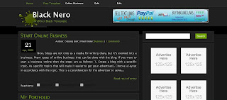 Free Blogger Template - Black Nero