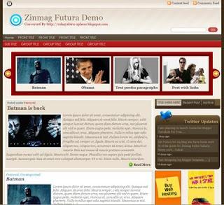 Free Blogger Template - Zinmag Futura