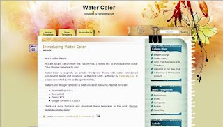 Free Blogger Template - Water Color