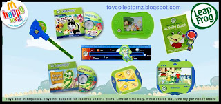 McDonalds Happy Meal toys Leapfrog -  2009 Promotion - Set of 8 toys