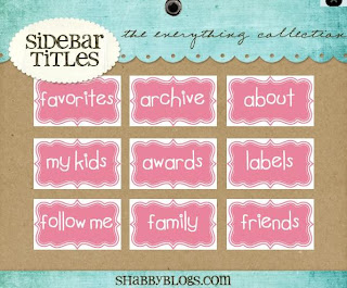 Shabby Blogs Sidebar Menu Set - Everything Collection Example