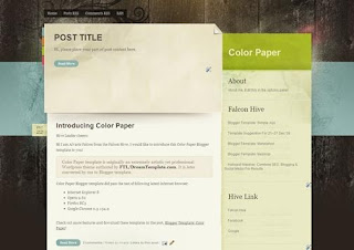 Free Blogger Template - Color Paper