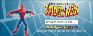 Burger King Spectacular Spider-man Kids Meal Toy Promotion 2010 - Web Span Spidey