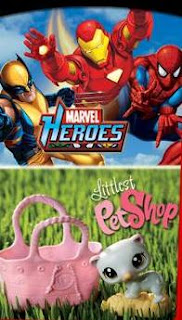 McDonalds Marvel Heroes and Littlest Pet Shop Toys happy meal toy promotion 2010