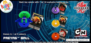 McDonalds Bakugan Happy Meal Toys - Australia and New Zealand Release 2010 - Preyas Ball