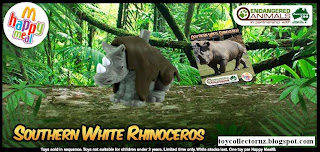 McDonalds Endangered Animals Happy Meal Toys 2010 - Southern White Rhinoceros