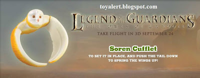 Burger King Legends of Guardians toys - Owls of Ga'hoole - Soren Cufflet