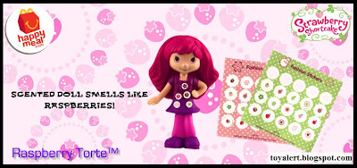 McDonalds Strawberry Shortcake Happy Meal Toy Promotion 2010 - Raspberry Torte with fashion stickers to apply