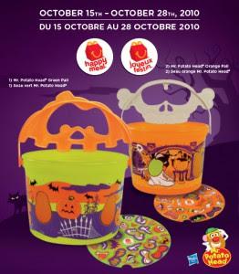 McDonalds Halloween Pails Canada Promotion 2010