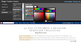 Remove Blog Title Border in Blogger