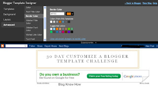Change Blog Title Border Color in Blogger