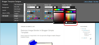 How to change the image border to transparent in Blogger