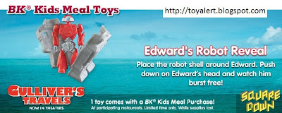 Burger King Gullivers Travels Kids Meal Toys - Edward's Robot Reveal