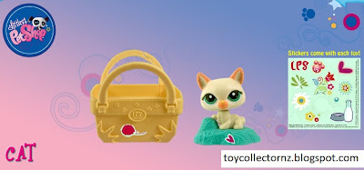 McDonalds Littlest Pet Shop happy meal toy promotion in Australia and New Zealand 2010 -Cat