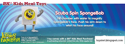 Spongebob's Legends of Bikini Bottom kids meal toys - Scuba Spin SpongeBob