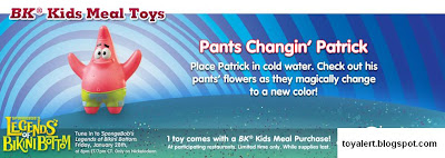 Spongebob's Legends of Bikini Bottom kids meal toys - Pants Changing Patrick