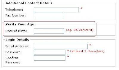 Zen Cart Customer Sign Up Date of Birth Optional