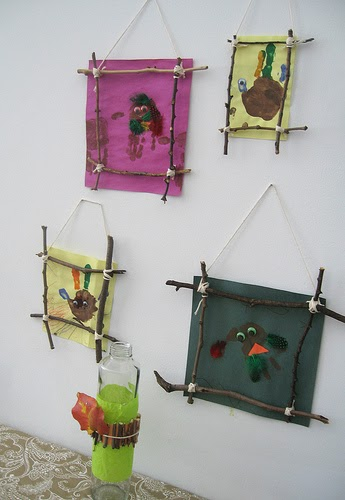 creative ideas   twig picture frames  kids