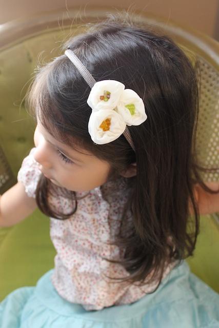 Rosette Fabric Flower Headband Tutorial