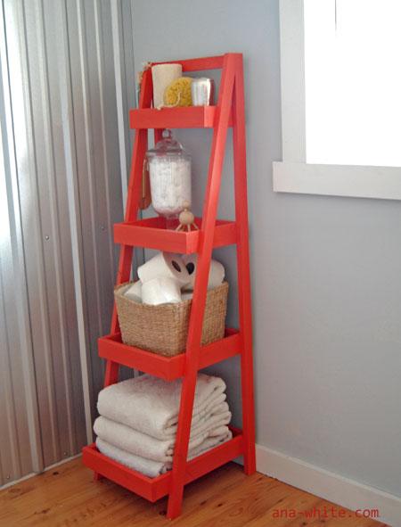 Beautiful  Display Ladder Shelf Storage Shelving Bathroom RackFRG1517 32UK