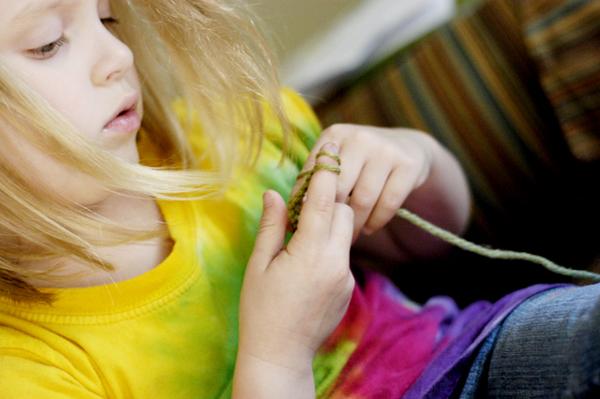 Finger Knitting Flowers : Creative ideas for you waldorf finger knitted flower