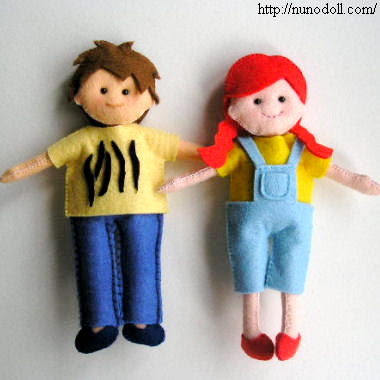 Felt Food Doll Toy & Imaginative Play PDF Patterns by BuggaBugs