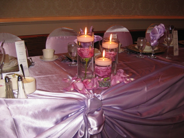Head table centerpieces
