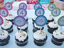 10 CANDLES CUSTOM PARTY DECOR (12 party favors & 12 cupcake toppers of choice)-10/9
