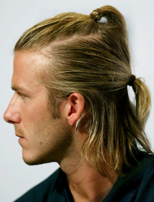 david beckham hairstyles blonde. David Beckham Long hairstyles