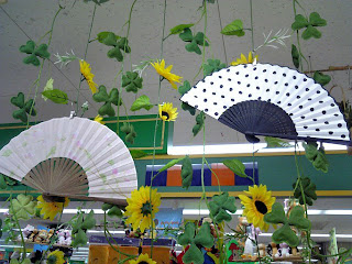 japanese folding fan in 100 yen shop