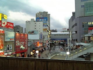 late afternoon at funabashi station