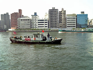 guard boat in sumida-gawa