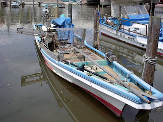 boat in funabashi fishing port
