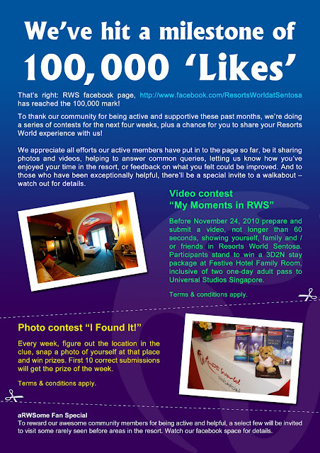 RWS facebook hits a milestone of 100,000 'Likes'