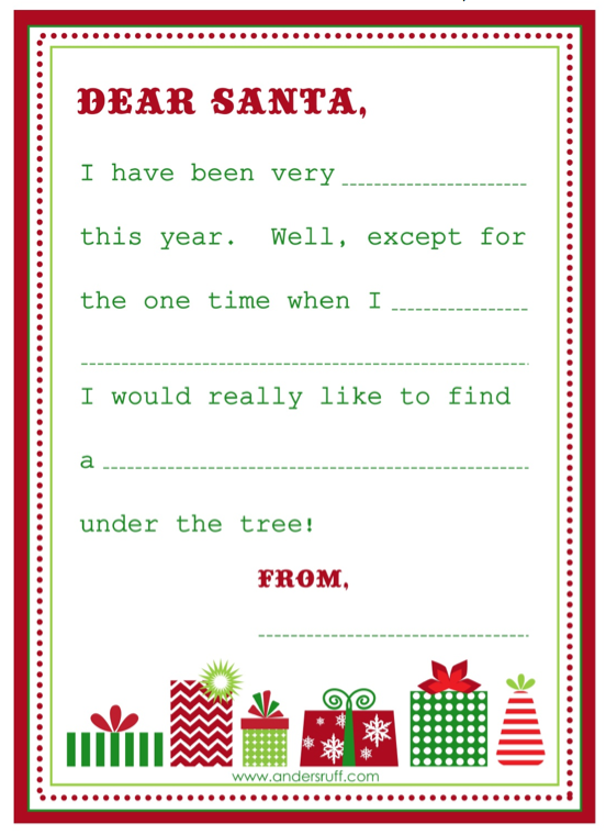... 263kB, Printable Dear Santa Letter/page/2 | New Calendar Template Site