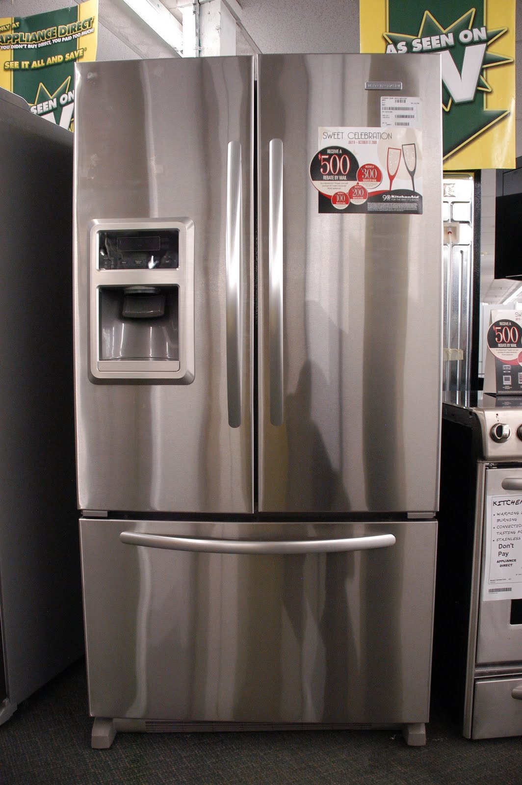 Bon KitchenAid French Door Dispensing 25 Cu. Ft. Architect Series II   Orlando  Appliance Stores